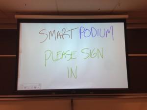 Smart Podium
