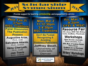Scholarship Symposium Flyer