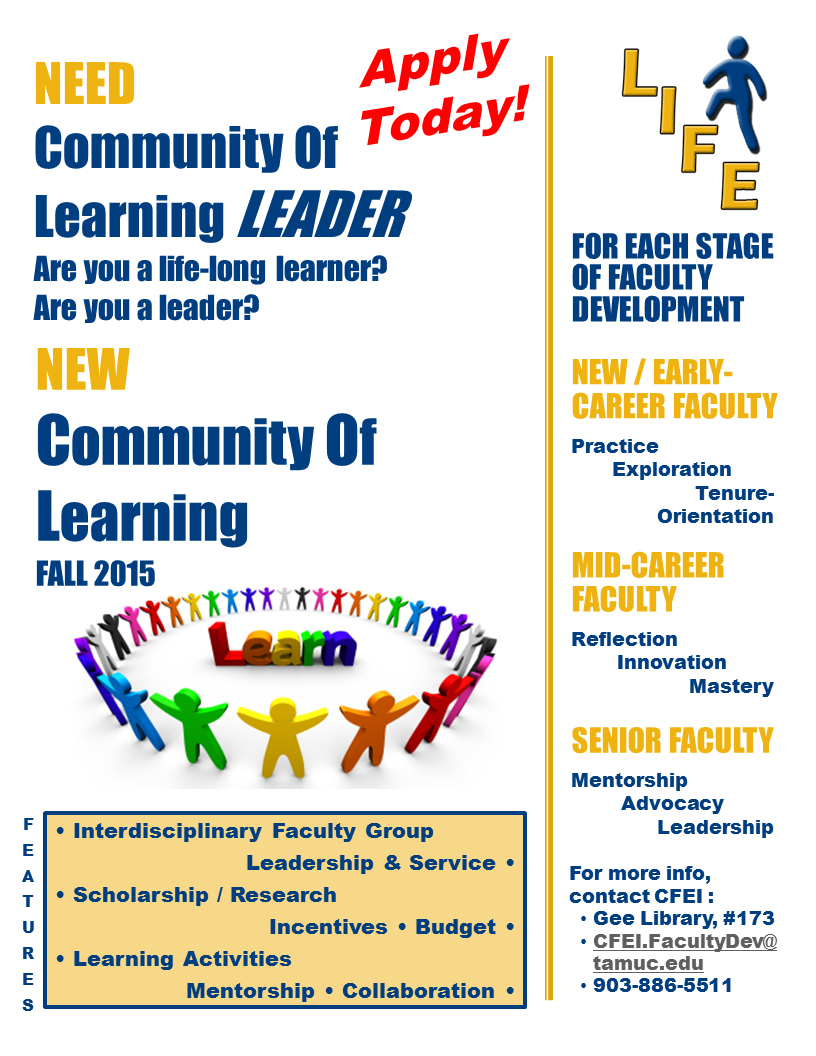 NEW Faculty Communities Of Learning